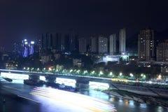长江的夜 免版税库存图片