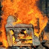 长沙发发火焰 库存图片