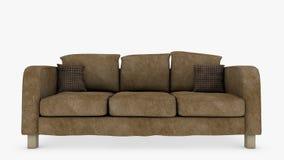 长沙发正面图 向量例证