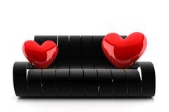 长沙发爱 库存例证