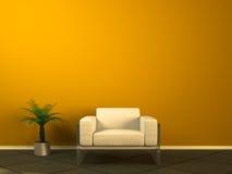 长沙发白色 免版税库存图片