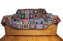 长沙发盖子几何查出的模式 库存照片