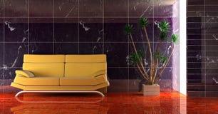 长沙发空间 库存例证