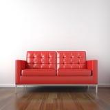 长沙发红色空间白色 向量例证