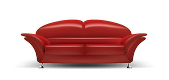 长沙发红色 库存例证