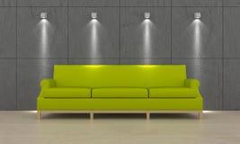 长沙发绿色 向量例证