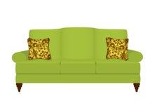 长沙发绿色 库存例证