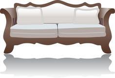 长沙发装饰沙发 免版税库存照片