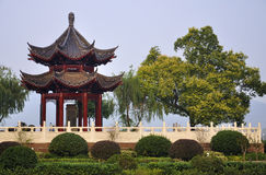 长沙瓷中国城市亭子 免版税库存图片