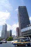 长沙瓷:城市交通和大厦 库存照片