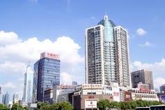 长沙瓷:城市交通和大厦 免版税库存图片