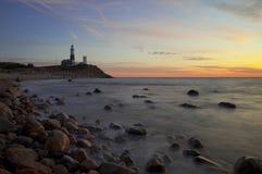 长海岛的灯塔 免版税图库摄影