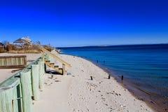 长海滩的海岛 库存图片