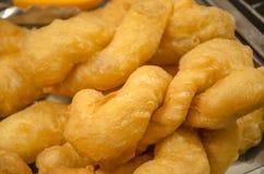 长的中国多福饼(中国油煎饼) 免版税库存图片