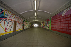 长的图表隧道街道 库存图片