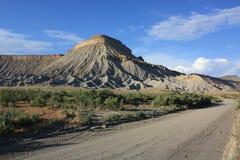 长的垫铁Mesa,内华达 库存照片