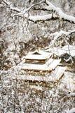 黄长的寺庙 免版税库存图片