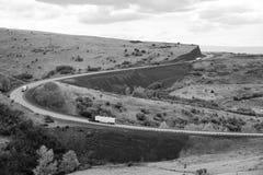 长的小山斜面Intersate 84俄勒冈状态北美 免版税库存图片