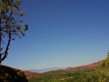 长的峡谷足迹Sedona亚利桑那上面  免版税库存照片
