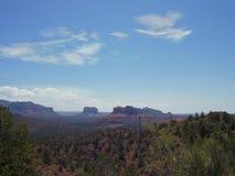 长的峡谷足迹Sedona亚利桑那上面  图库摄影