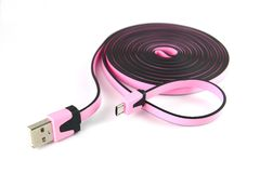 长的微小USB电缆 库存图片