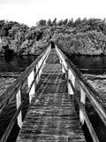长的救生艇甲板 免版税库存照片
