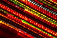 长的曝光光背景 在行动的发光的光 库存照片