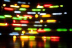 长的曝光光背景 在行动的发光的光 免版税库存照片