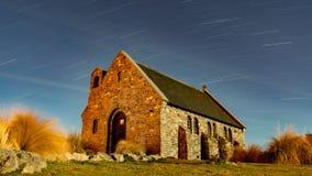 长的曝光好牧羊人教堂 免版税库存照片
