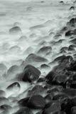 长的曝光海花费了与音调,北海道,日本 免版税库存图片