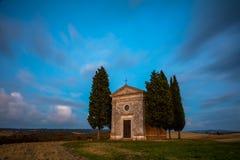 长的曝光著名托斯卡纳风景 库存照片
