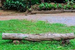 长的木材看法  免版税图库摄影