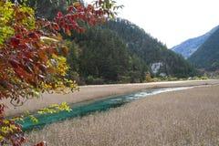 细长的湖 免版税库存照片