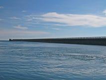 长的码头 免版税库存图片