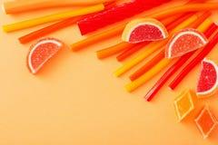 长的耐嚼的果冻甜点糖果 免版税图库摄影
