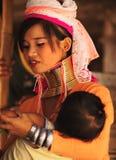 长的脖子妇女在泰国 免版税库存照片