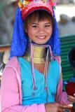 长的脖子泰国部落 免版税库存图片