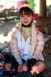 长的脖子泰国部落 库存图片