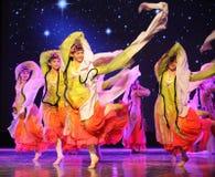 长的袖子-所有花一起开花-京剧舞蹈 图库摄影