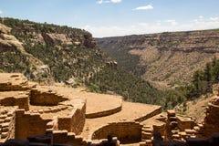 长的议院废墟Mesa Verde CO 库存照片