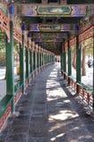 长的走廊在颐和园 库存图片