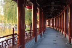 长的走廊风景xian 库存照片