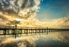 长的跳船海滩储备中央海岸, NSW 库存图片