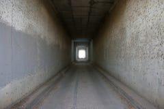 长的隧道 库存照片