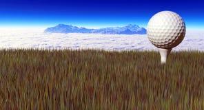 长的高尔夫球球击 库存图片