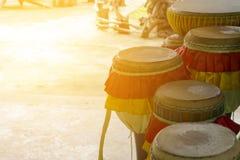 长的鼓泰国,仪器是泰国,徒升in2110的标志 图库摄影