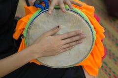 长的鼓游行在泰国 库存图片