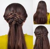 长的头发讲解的发型 库存图片