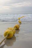 长的黄色浮体 库存图片