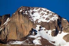 长的` s峰顶在洛矶山国家公园 免版税库存图片